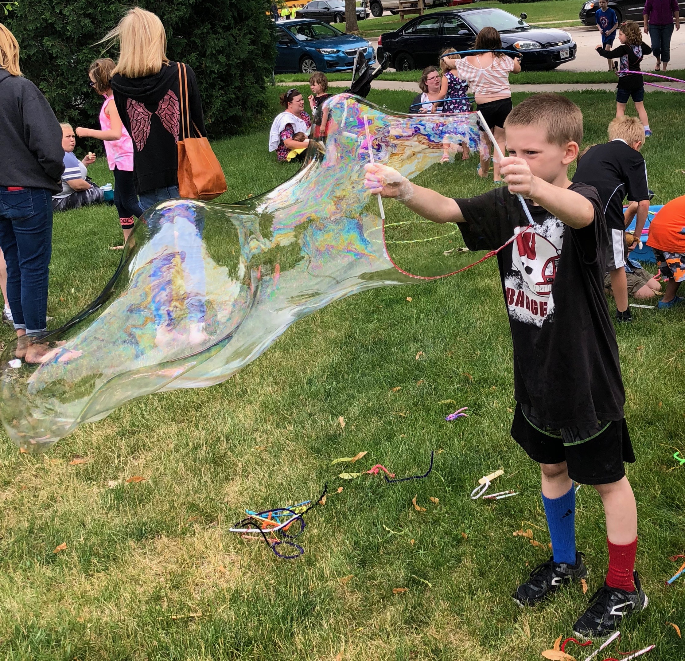 Giant Bubbles at the Park