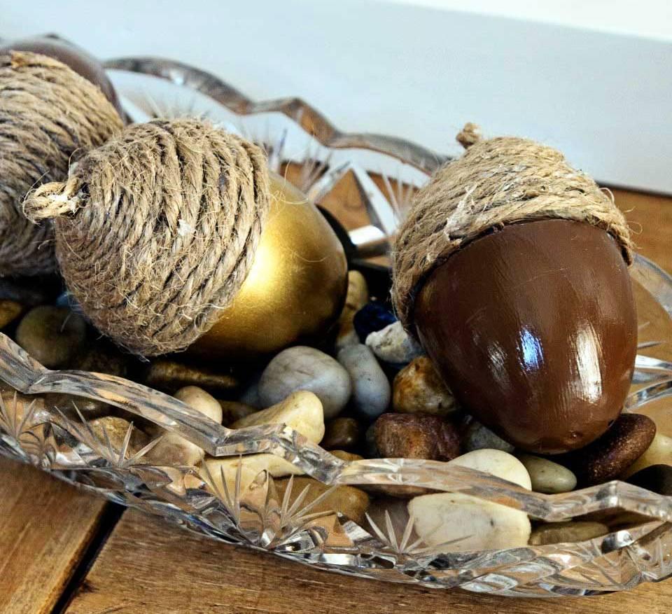 Make faux fall acorns Oct 20