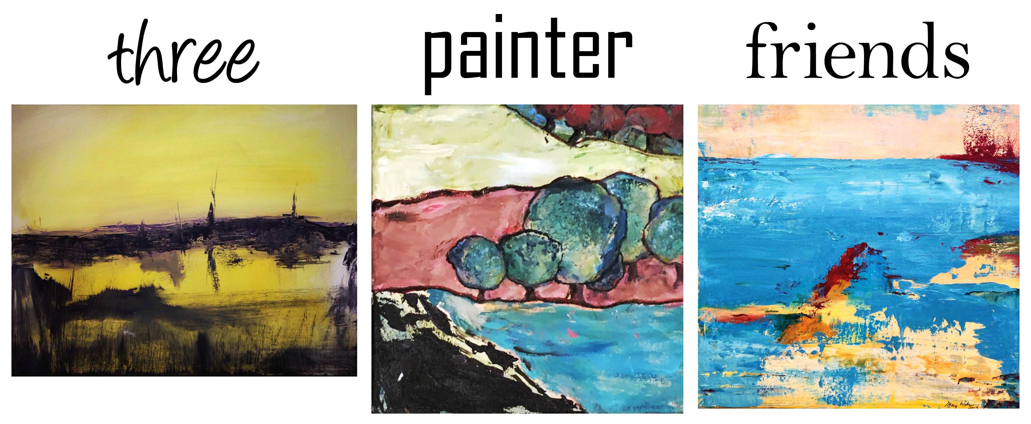 'Three Painter Friends' exhibit at gallery in July