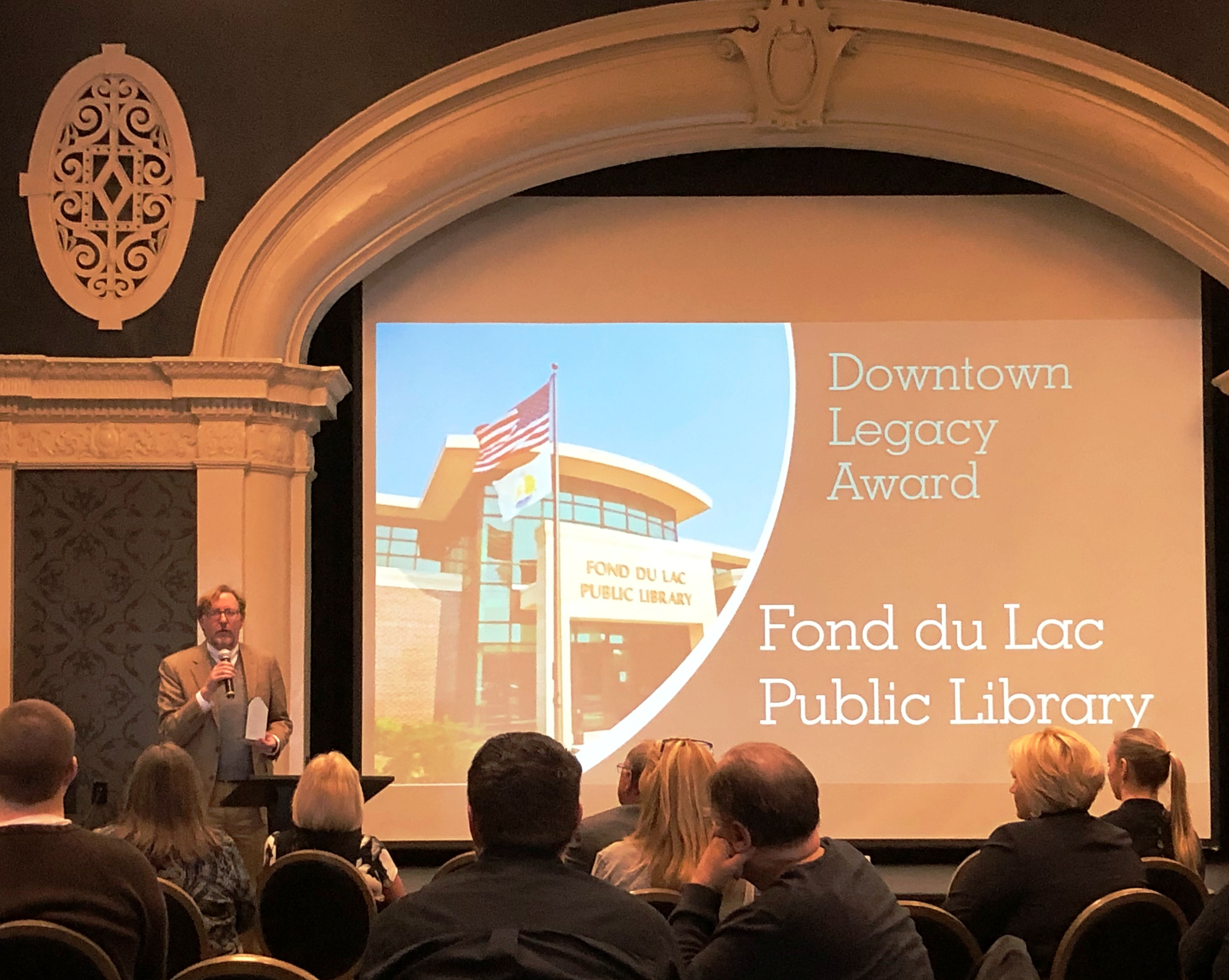 'Gem' library receives downtown Legacy Award